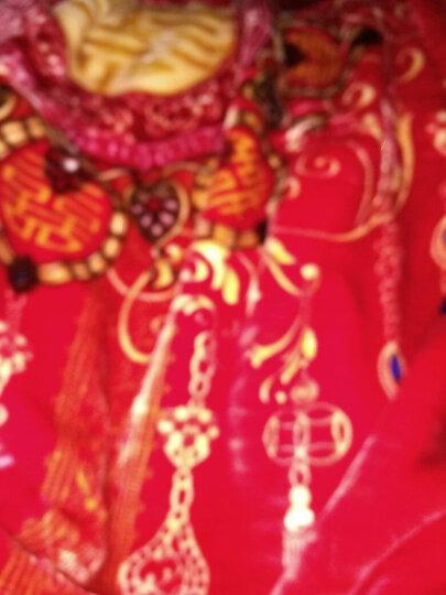 然轩家纺 婚庆四件套大红全棉刺绣新婚床品结婚六八十件套纯棉贡缎绣花多件套床上用品 同船渡  雅  全棉 1.8米床四件套(送配套枕芯) 晒单图