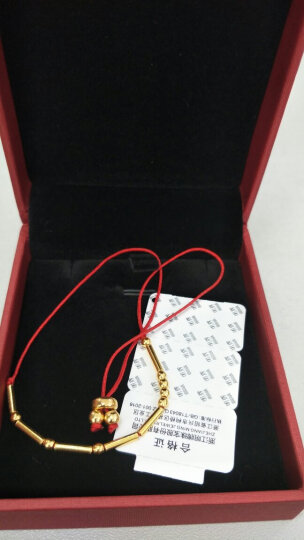 明牌珠宝黄金手链 足金嘀嗒系列摩斯密码女款时尚手链AFK0039定价 摩斯密码黄金手链 Luck 幸运 晒单图