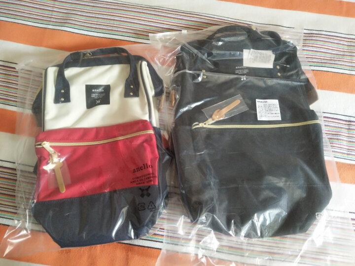 日本anello双肩包女背包新款学生书包日韩风范离家出走包经典款 红棕色书包大号 晒单图