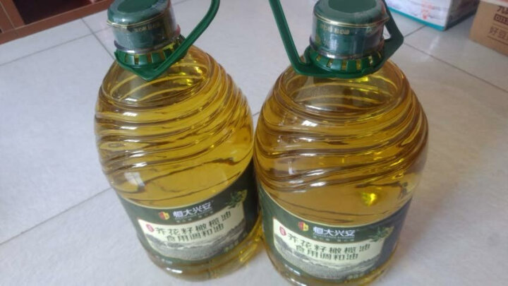 恒大兴安 食用油 清香芥花籽橄榄油 调和油 4L  晒单图