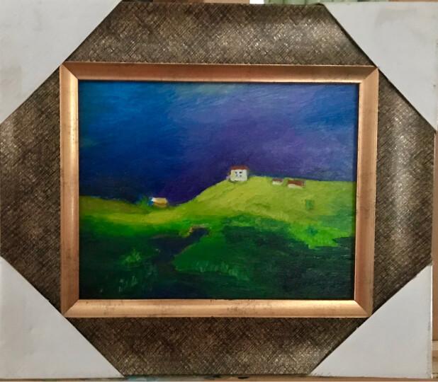 中盛画材 细纹亚麻油画布框 涂层背钉油画框油画颜料用油画板内框批发2.5cm厚 60*60日 宽度超过60cm需两个起拍 晒单图