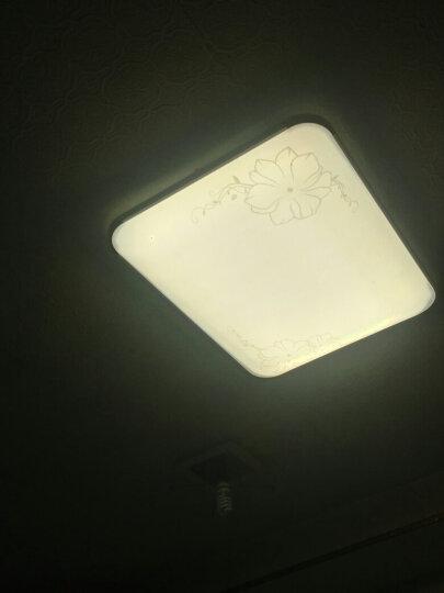 灯饰客厅灯北欧灯具套餐房间灯卧室灯长方形大灯led客厅吸顶灯餐厅灯阳台灯大厅灯浴室灯温馨吊灯现代简约 茉莉方55厘米白光适用主卧室或办公室等超薄风格 晒单图