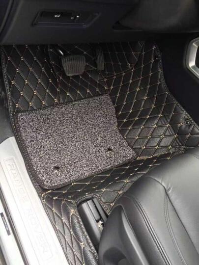 汽车脚垫全包围奔驰s级e级e300l glc260l gle320特斯拉model3 S X专用脚垫 真皮B款双层-棕色【全牛皮 全包围】 s320l奔驰glc300l e200l gle 晒单图