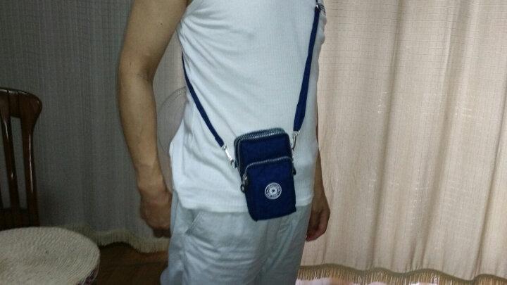 baellerry 新款手机女斜挎包大屏手机袋零钱包挂脖手腕包跑步竖款迷你小包 艳玫红 晒单图