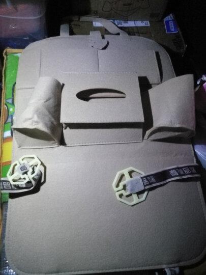 云族汽车用品收纳袋车载饰品置物袋车用储物袋多功能座椅背挂袋抽纸巾盒杂物箱垃圾桶防踢垫护超市 收纳袋米色-单个 晒单图
