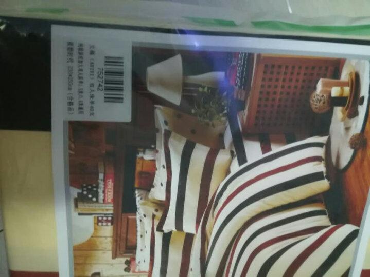 艾薇 被套家纺 纯棉被罩 双人舒适加大全棉被罩 单件 宝丽格灰 200*230cm 晒单图