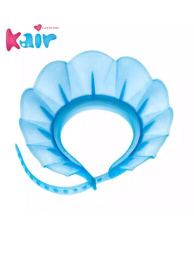 kair 美国宝宝洗头帽可调节婴儿气垫洗澡帽儿童浴帽小孩洗发帽防水 3代新款可调节-蓝色 晒单图