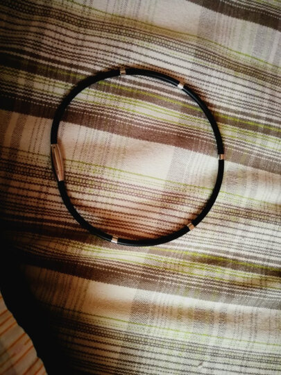 品她 5钛项圈颈环项圈辐射运动项链平衡健康颈椎能量硅胶防水项圈磁疗饰品情侣 红色45~50厘米可调节 晒单图