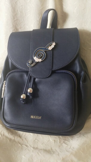 纽芝兰(NUCELLE)双肩包时尚韩版女士背包旅行包个性学生书包潮 174幽夜蓝 晒单图