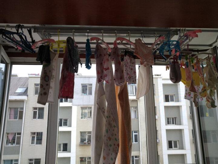 枫尚 晾衣架电动升降晒衣架四杆加粗铝合金伸缩晾衣杆家用自动晾晒架包安装D0013 晒单图