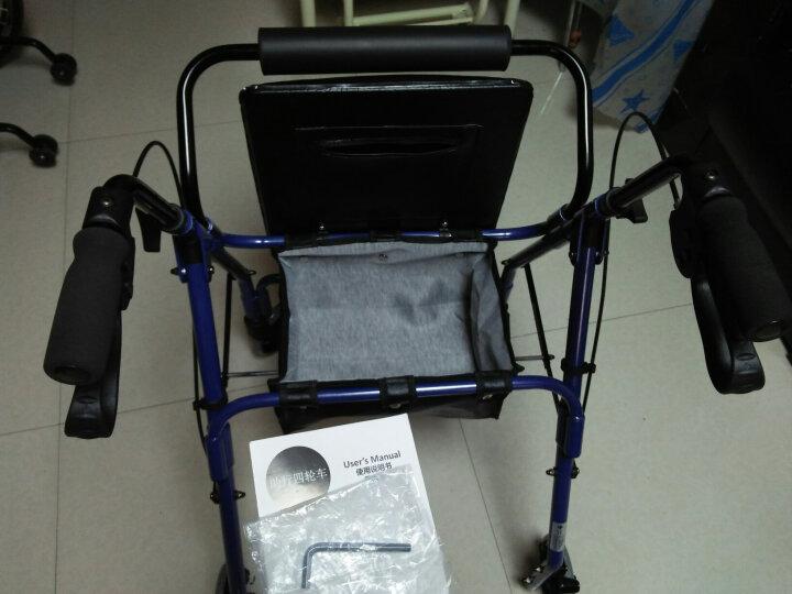 优康德 老年人康复助行购物车UKD-3501 高软座款铝合金助行手推车 可折叠买菜车 晒单图