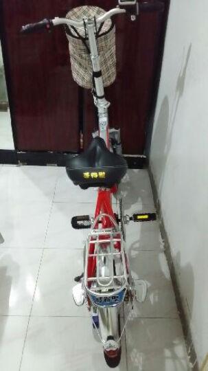 正步(ZB) 新国标电动自行车男女士成人代步迷你折叠电瓶车锂电池小型代驾助力电单车 20寸骑行版/单速48V/黑色 晒单图