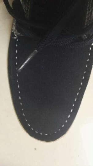 西瑞休闲鞋男板鞋低帮透气帆布鞋鳄鱼纹皮单鞋春季 黑色加毛 42 晒单图