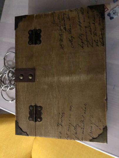 亚众 B6带锁密码本木盒笔记本精装复古笔记本手账本礼盒彩页记事本 我们的故事-红伞 晒单图