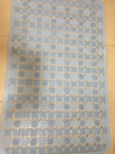 佳洁利大号浴室防滑垫卫生间洗澡脚垫吸盘按摩地垫 蓝色 大号50*80cm 晒单图