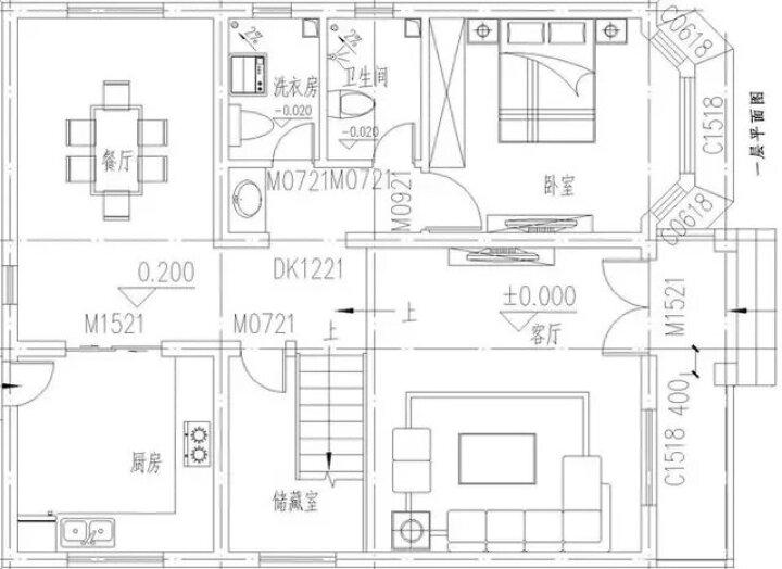 全套新农村别墅设计效果图自建房房屋设计二三层半三层双拼多层小户型自建房建筑结构cad施工图纸效果图 晒单图