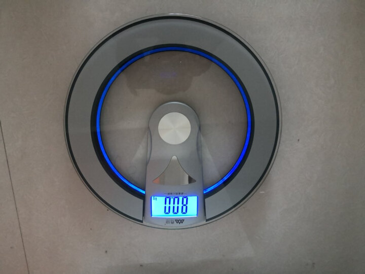 香山EB8504H 圆形电子称人体秤 电子体重秤(带光环) 晒单图