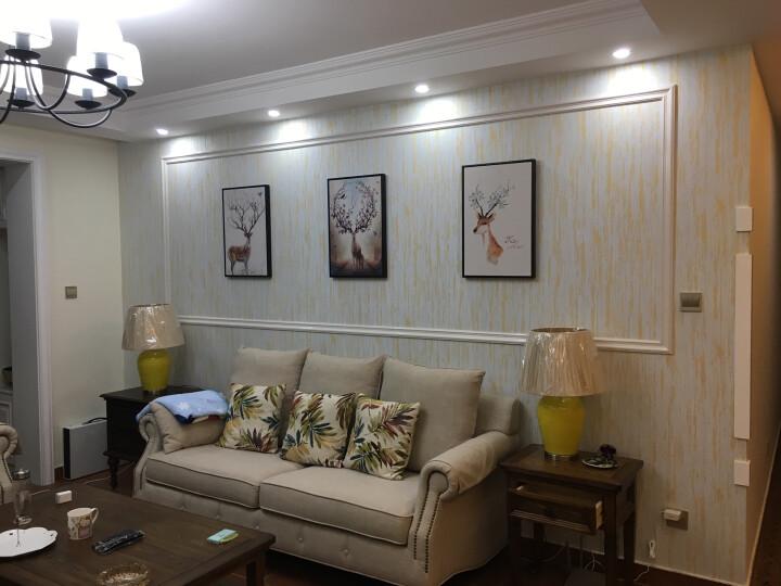 巢趣 美式卧室家具梳妆台美式实木化妆台玄关柜 黑胡桃色 (妆台+镜框) 晒单图