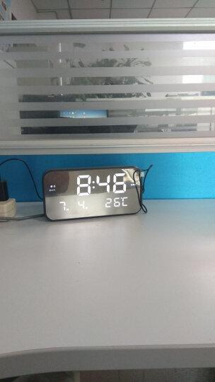 TXL闹钟和弦LED音乐钟电子时钟座钟床头夜光数字闹钟睿思K灰色白灯 晒单图