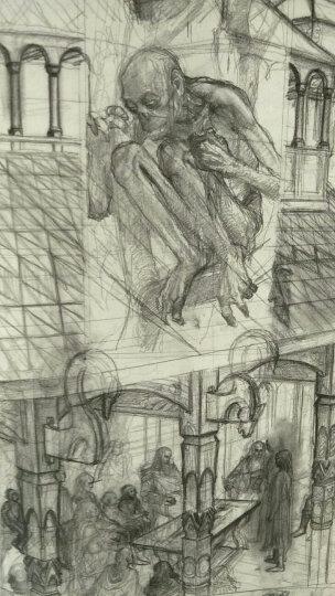 纸上中洲:艾伦·李的 魔戒 素描集 晒单图