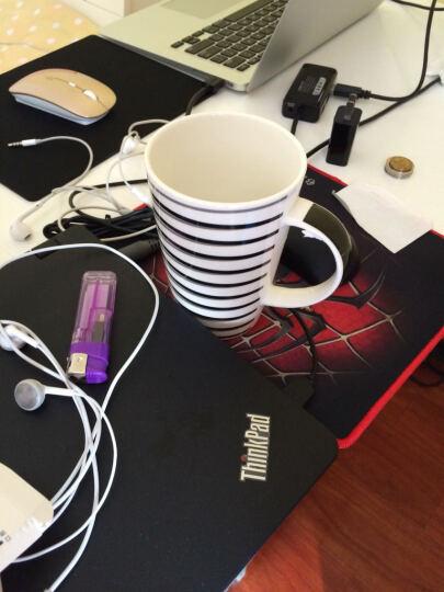 瓷魂 韩式陶瓷情侣水杯大容量咖啡牛奶杯子带盖带勺马克杯套装 线生活POLO-B款 晒单图