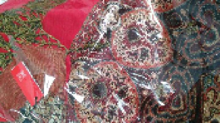 上海故事围巾女秋冬季经典英伦格子羊毛围脖男女情侣款礼盒装 177070 蓝色 晒单图