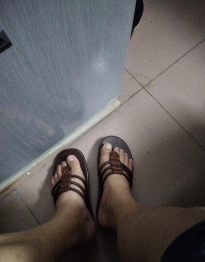 泰潮(taichao) 大码拖鞋春夏季男士人字拖潮男韩版防滑凉拖鞋 棕色 40 晒单图