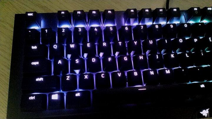 雷蛇(Razer)BlackWidow X 黑寡妇蜘蛛X幻彩版 悬浮式游戏机械键盘 黑色绿轴 韦神推荐绝地求生吃鸡键盘 晒单图