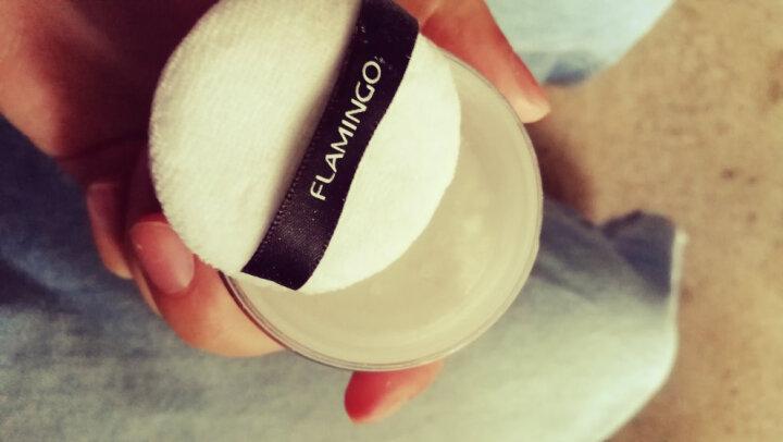 火烈鸟(FLAMINGO)散粉 定妆控油柔滑细致肌密带粉扑盒装 白色 晒单图