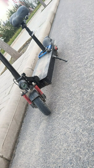 希洛普(SEALUP) 锂电池折叠迷你电动车 城市便携电瓶车自行车  电动滑板车 可折叠电动车电瓶车 三避震 31.2AH升级款100-115公里 晒单图