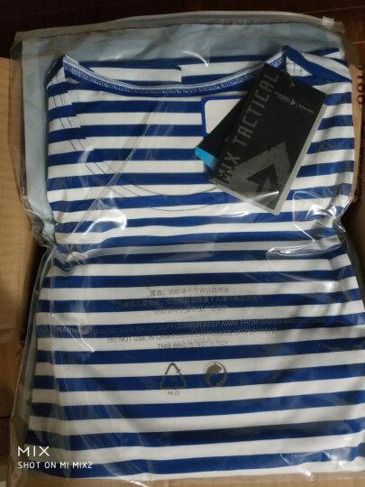 龙牙B2级经典COOLMAX海魂衫情侣衫夏季圆领短袖T恤打底衫铁血君品 绿/白(无罗纹款) L 晒单图