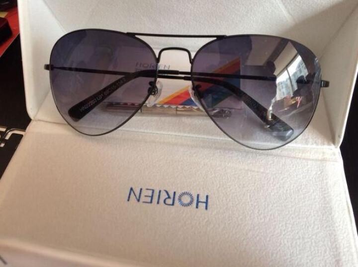 海俪恩 偏光太阳镜男款墨镜开车驾驶司机眼镜彩膜眼镜男士 N6270茶灰渐变 晒单图