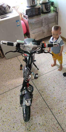 Liweidongli 力威12寸14寸折叠电动自行车48V锂电双人电瓶车轻便代驾电动车 油压碟刹48伏26安约150公里 晒单图
