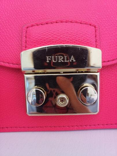 FURLA 芙拉 女士FURLA METROPOLIS系列洋红色牛皮金色链条单肩包斜挎包 884890 晒单图