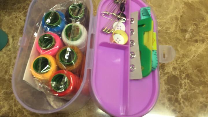 班哲尼 家用针线盒套装 旅游用品多用途居家便携缝纫缝补工具盒收纳包 颜色随机 晒单图