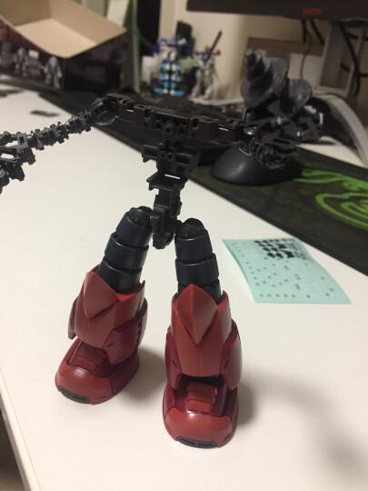 万代(BANDAI)高达Gundam拼插拼装模型玩具 RG版16夏亚专用魔蟹0190183 晒单图