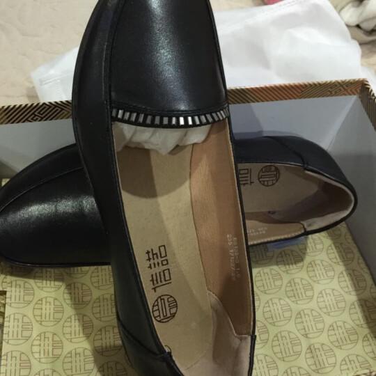 信诺 单鞋女平底新品夏女士妈妈鞋真皮软底大码女鞋 黑色 39 晒单图