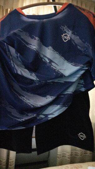 唐盾(TODO) 羽毛球服套装短袖情侣 团购队服运动服乒乓球服男女款上衣+短裤/裙 女6017短袖+黑色长裤 XL 晒单图