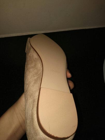 戈美其单鞋女鞋2018春季新品平底皮鞋浅口大码工作鞋 裸粉色 37 晒单图