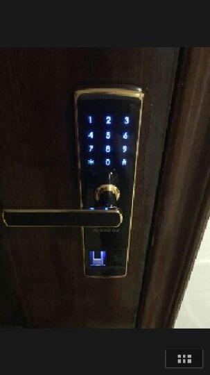凯迪仕 指纹锁密码锁智能锁电子锁家用防盗门锁 5155 亮铬色Alock智能App款 晒单图