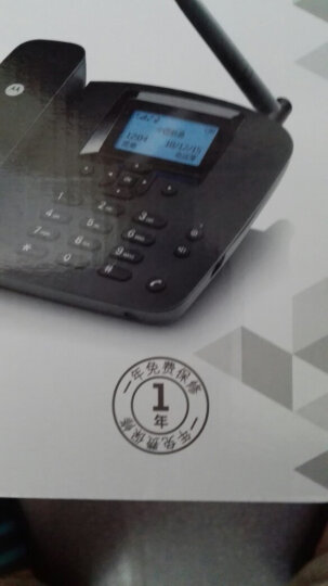 摩托罗拉(Motorola)FW200LC无线插卡电话机无线移动固话办公家用固定座机支持电信手机卡SIM卡(黑色) 晒单图