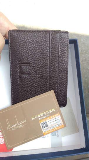 佐尔丹妮 超薄驾驶证皮套卡包男士牛皮卡片包证件卡套女迷你小零钱包 卡包名片夹 TE咖啡色 晒单图