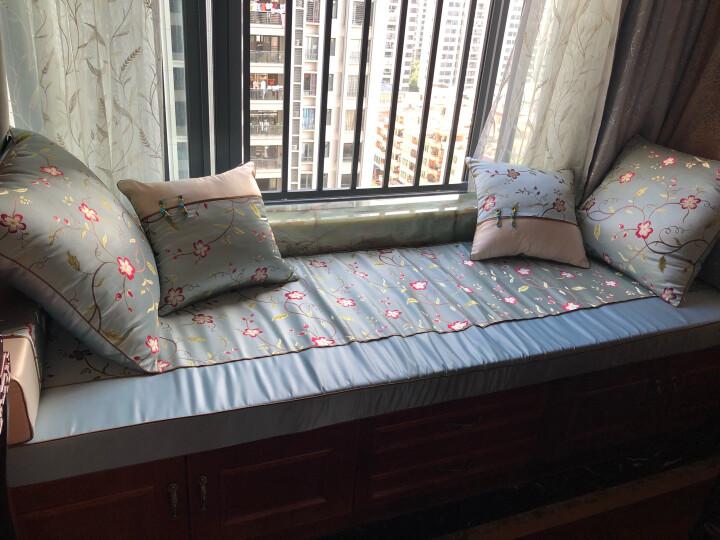 伊菲曼家实木沙发垫红木沙发垫中国风飘窗罗汉床垫子中式定制套两用高密度海绵坐垫四季通用 藤蔓花 罗汉床垫600元/平方 晒单图