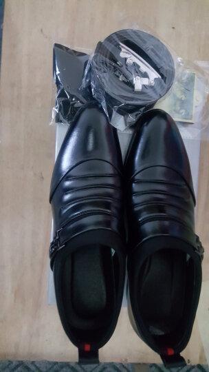 蒂雅尼奥2016新款韩版正装鞋 男士休闲皮鞋商务休闲鞋尖头内增高皮鞋潮男棉鞋288 棕色 42 晒单图