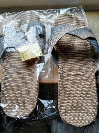 米奇菱拖鞋夏女男士地板拖 家居室内亚麻女士凉拖鞋1045 1025烟灰色男 28cm(42/43) 晒单图
