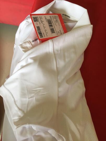 李宁官方男子短袖POLO训练系列速干凉爽运动服APLM159 男装 标准白 XXL 晒单图