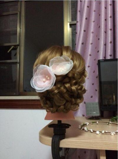 魅丝黛儿 假发头模假人头模特头练习头盘发化妆编发人头模型 无妆-金棕色+大礼包 晒单图