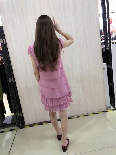 密瓜森林连衣裙2018春夏季新款女装夏季雪纺蛋糕裙连衣裙080 绿色 M(95斤) 晒单图