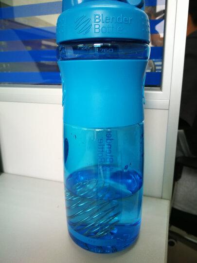 BlenderBottle 运动防滑款蛋白粉摇摇杯户外健身水杯带搅拌球 湖蓝色约800ml 晒单图