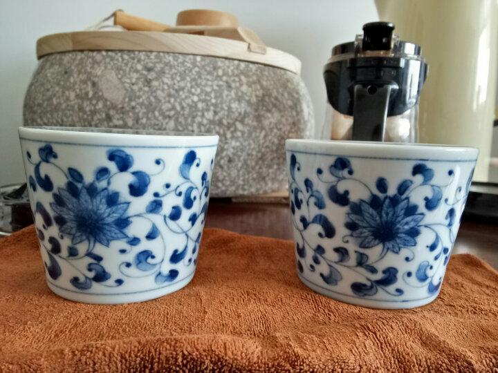 光锋 日本进口蓝凛堂手绘蓝染水杯 和风陶瓷茶杯寿司茶杯点心杯 G款虾AE245 晒单图